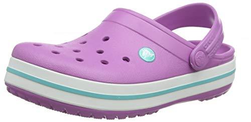 Crocs Crocband, Zuecos Unisex Adulto, Rosa (Violet/White 592), 42/43 EU
