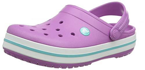 Blanc White-blue Jean Crocs Croc Band Clog 39-40 EU Sabots Mixte Adulte