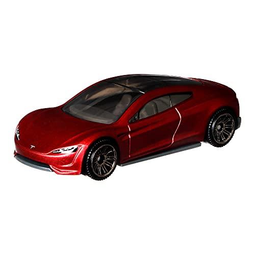 Matchbox HGK95 - 2020 Tesla Roadster, Nachbauten von realistischen Fahrzeugen, klassische Spielzeugautos, ab 3 Jahren
