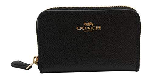 COACH Zip Around Coin Case In Black