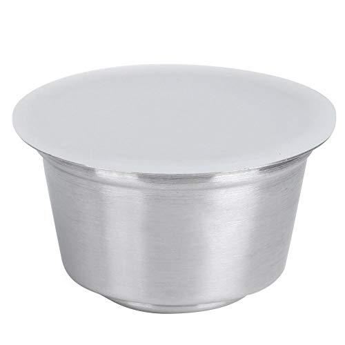 Återanvändbara kapslar av rostfritt stål Återfyllningsbara crema-kaffekapslar Koppar lämpliga för Dolce Gusto kaffemaskin (vit)