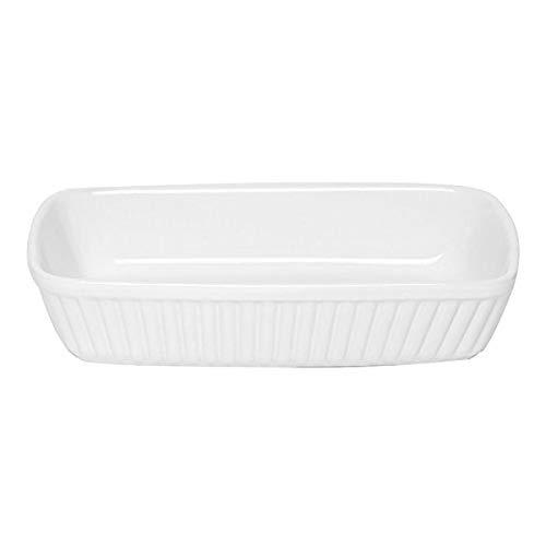 Excelsa Pirofila Rettangolare Perfetta per infornare Ogni Tipo di pietanza, Ceramica, Bianco, 21 X 12 Cm
