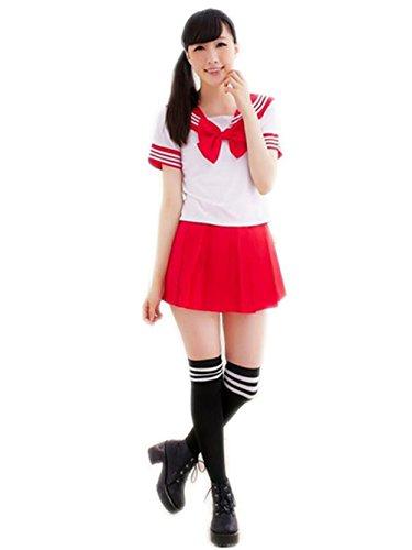 Precioso Uniforme de Uniforme Escolar de Japón Uniforme Set Sailor Suit Disfraces de Cosplay