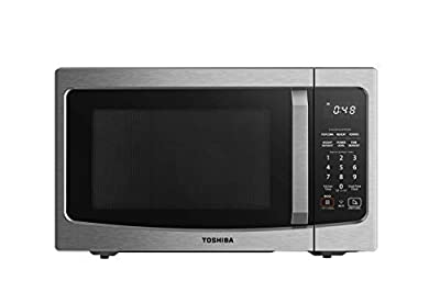 Toshiba ML-EM34P(SS) Smart Countertop Microwave Oven Works with Alexa, Humidity Sensor and Sound on/Off Function, 1100W, 1.3 Cu Ft, Stainless Steel