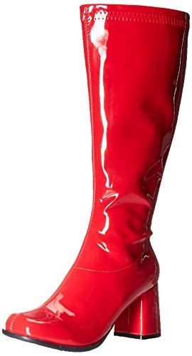Ellie Shoes Women's GOGO-W Knee High Boot, RED, 8 M US