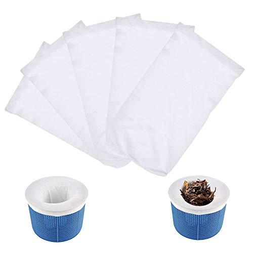 WELLXUNK Calcetín de Filtro de Piscina,5 Piezas Calcetines Skimmer Piscina,Calcetines Ahorradores de Filtro para Piscina,Cesta Skimmer,para Canasta de Piscina, Filtro Piscina