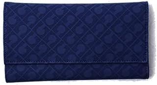 Gherardini Portafoglio Taglia Grande in Tessuto Softy Colore Blu Donna 19,5x10,5x3 cm