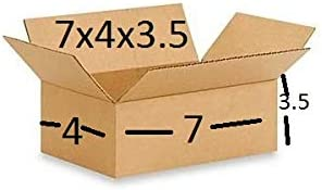 SHRI RAM PACKAGING® Corrugated Boxes, 7X4X3.5 Inches, Brown - Pack of 50