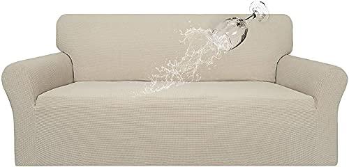 Tik LP Sofá estirado Cubiertas de sofá 100% Impermeable, Cubierta de sofá Dual a Prueba de Agua, Funda de sofá de Jacquard estirado, Protector de Muebles a Prueba de Fugas para niños, Mascotas
