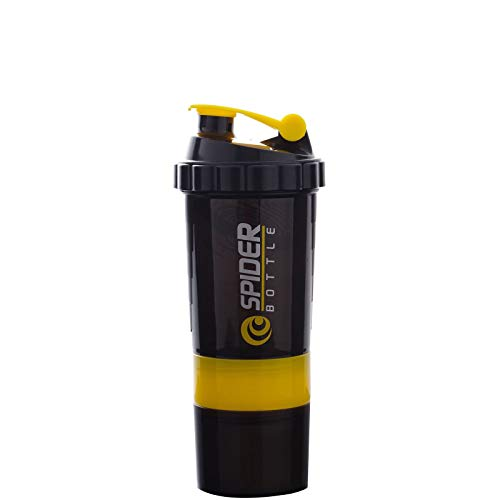 ACWERT Blender Bottle for Protein Mixes,Portable Protein Shaker Bottle with Twist and Lock Powder Stirring Cup, 500ML,Multifunctional Perfect Fitness Partner Workout Gift Office Sports,BPA Free (YE)