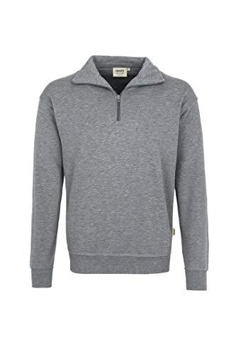 HAKRO Zip-Sweatshirt, grau-meliert, Größen: XS - XXXL Version: XL - Größe XL