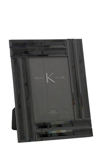 Cadre photo en verre noir