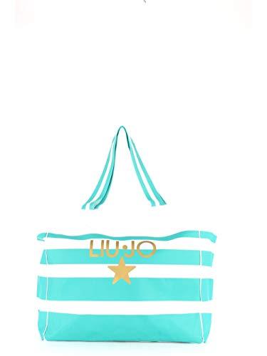 Liu Jo Borsa donna due manici in tessuto a righe BS20LJ105
