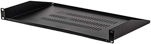 NavePoint 1U 19-Inch Universal Vented Rack Mount Cantilever Server Cabinet Shelf 10.5-Inch 270mm Deep Black 5-Pack