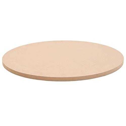 Tidyard Ersatzteil Tischplatte Rund MDF Ersatztischplatte Durchmesser 500 mm MDF-Tischplatten Beige für Esstische oder Couchtische