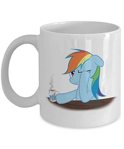 XCNGG Tired Rainbow Dash White My L-it-tl-e P-o-n-y Coffee or Tea Mug Great Gift for Pegasister and Brony or My L-it-tl-e P-o-n-y Coffee or Tea Lover