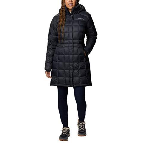 Columbia Women's Hexbreaker Long Down Jacket, Black, Medium
