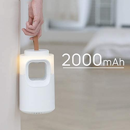 Hanks' winkel Het opladen van Silent Non-straling Physical Mosquito Killer LED Night Light (Color : Ice White) Navy Blue
