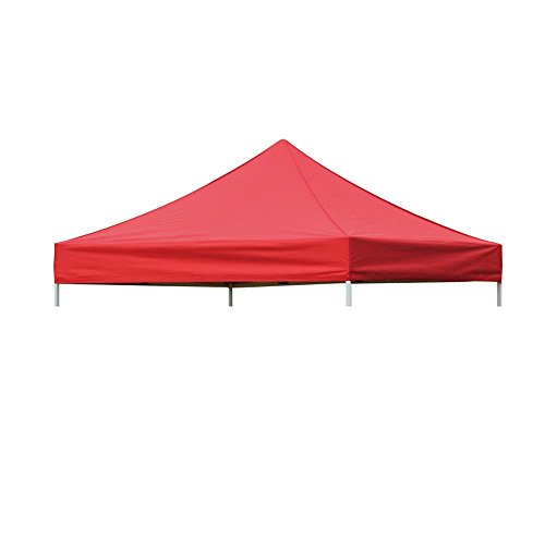 Eurmax Replacement Canopy Top Cover for 10x10 Pop up Canopy Pop up Tent Party Tent,top Cover Only, Canopy Frame Is Not Included(red)