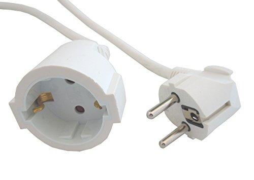 Verlängerungskabel, 3 m, Weiß, 3 x 1,5 mm, H05VV-F