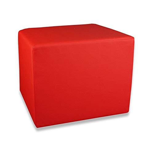 Fränkische Schlafmanufaktur Stufenlagerungswürfel, Bandscheibenwürfel, Lagerungswürfel, mit Soft-Kunstlederbezug, ca. 45x40x35 Farbe Rot