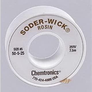 Chemtronics 50-5-25 Soder-Wick Rosin Desoldering Braid 0.145in/3.7mm 25ft