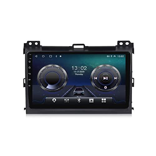 Radio para Coche con Cámara De Visión Trasera Autoradio Android 10 para Toyota Prado 2004-2009 con Soporte GPS Navegación 4G WiFi Carplay FM,4+32g