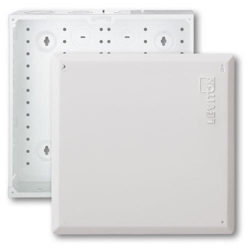 Leviton 47605-140 14' Structured Media Enclosure and Flush Mount Cover, Empty, White