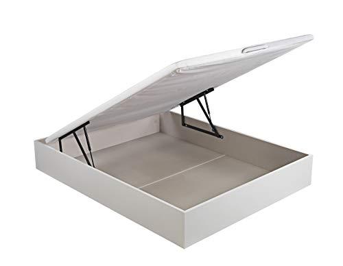 ROYAL SLEEP Canapé Abatible (150x200) de Gran Capacidad, Tapa 3D Transpirable, Color Blanco Montaje y Retirada de Usado Incluido