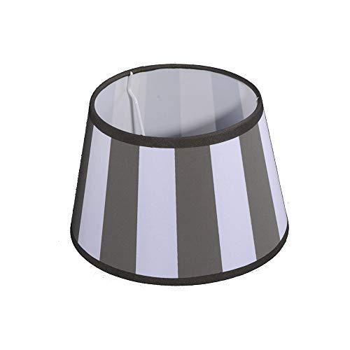 Lampenschirm für Tischleuchte in Rund Streifen Taupe TL 20-15-13