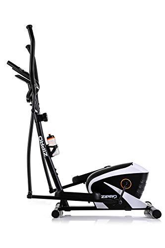 Zipro Erwachsene Magnetischer Crosstrainer Shox RS bis 120kg Eine Schwungmasse von 7 kg, Schwarz, One Size