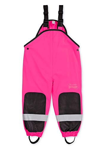 Sterntaler Mädchen Funktions-Regenhose mit Hosenträgern, Alter: 9-12 Monate, Größe: 80, Pink