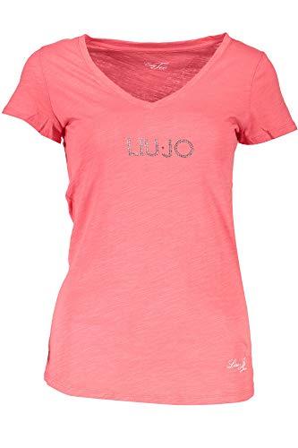 Liu Jo WXX019 JC698 T-Shirt Maniche Corte Donna Rosso 71635 S