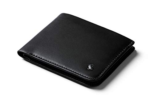 Bellroy Hide & Seek Wallet (Slim Leather Wallet, RFID Protected, Holds 5-12 Cards, Coin Pouch, Flat Note Section, Hidden Pocket) - Black Charcoal