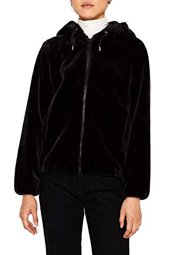 edc by ESPRIT Damen 099Cc1G012 Jacke, Schwarz (Black 001), Small (Herstellergröße: S)