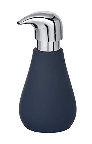 WENKO DIE BESSERE IDEE Distributeur Savon Liquide, céramique Soft Touch, Sydney Bleu foncé Mat