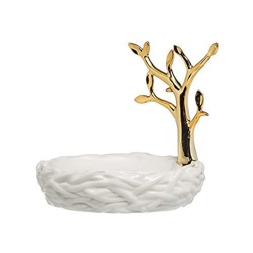 noyydh Golden Tree American Creative Caja de jabón de cerámica baño Estilo Europeo Plato de jabón de Alto Grado Bandeja de jabón Marco de la joyería cenicero