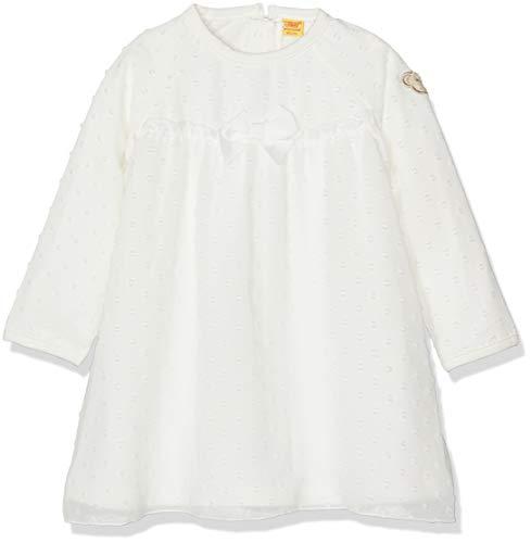 Steiff Baby-Mädchen 1/1 Arm Kleid, Weiß (Cloud Dancer|White 1610), 86