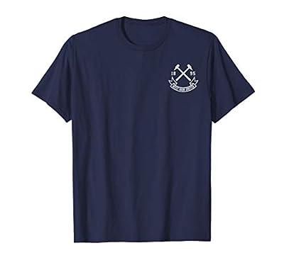 Mens Mens Mens West Ham United Hammer Patch T-Shirt Navy