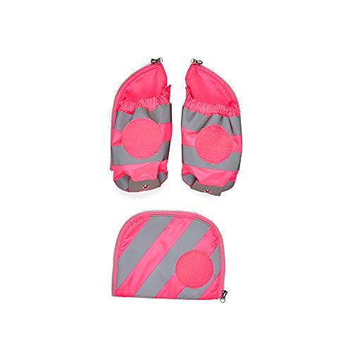 ergobag Seitentaschen Zip-Set mit Reflektorstreifen - - Pink - Pink,M