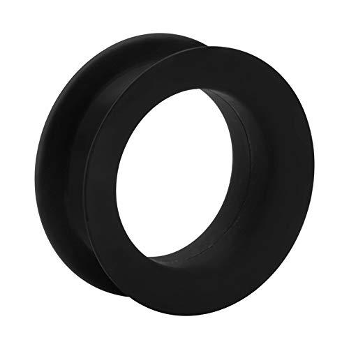 Crazy Factory Tunnel aus Silikon   28mm • Schwarz • Piercing • Ohr • Günstig • Basic • Top Qualität