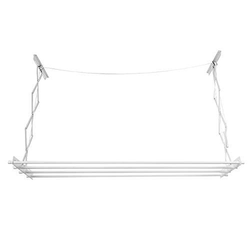 lyrlody Versenkbarer Wäscheständer Wäscheleinen Deckentrockner Deckenständer Wäschetrockner für Wand oder Decke, Aluminium, platzsparend, 184 * 50 * 67 cm
