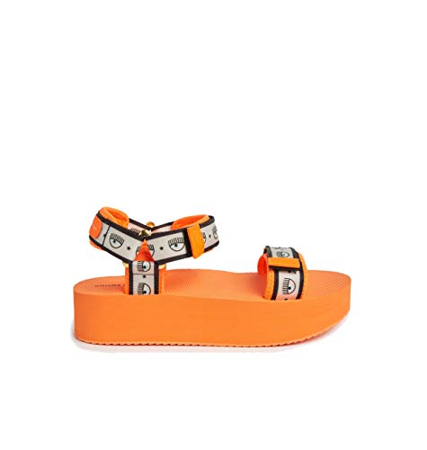 Sandali logomania Chiara Ferragni scarpe (arancione, numeric_37)