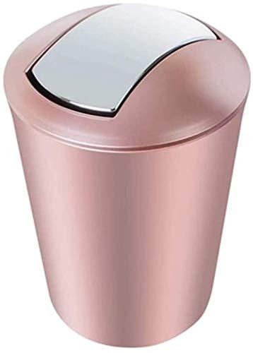 AKwwmy Bote de Basura con Tapa de Basura Can Home Bathroom Sala de Estar Dormitorio Dormitorio Baño Grande Creativo con Tapa Shake-Type Presión Mengheyuan (Color : Pink, Size : 19.5 * 19.5 * 30CM)
