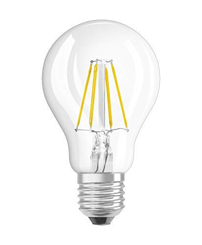 Osram LED Star Classic A Lampe, LED - Lampe in Kolbenform mit E27-Sockel, nicht dimmbar, Ersetzt 40 Watt, Filamentstil Klar, Warmweiß - 2700 Kelvin, 1er-Pack