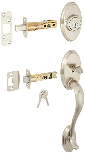Kwikset 800SELIP-15 Shelburne Single Cylinder Exterior Handleset Satin Nickel Finish
