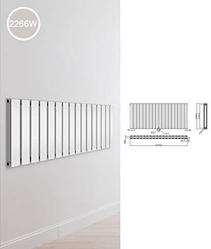 Design Paneelheizkörper einlagig zweilagig Flachheizkörper Bad Heizkörper Heizung, Ausführung:Doppellagig, Maße:600 x 1364 x 78 mm