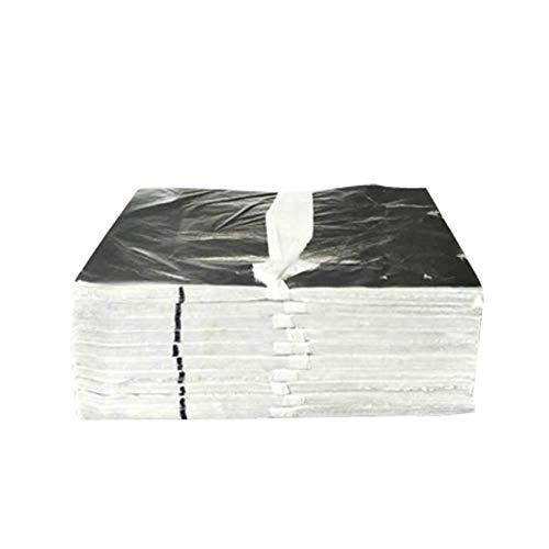 100 stks 14 * 14 cm blad bladeren lakens ontwerp papier art craft diy craft decor vergulden folie papier imitatie goud zilver koper, zilver
