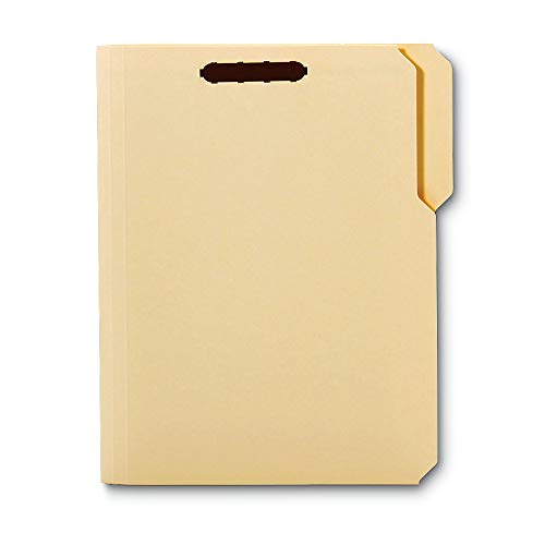 Office Depot Reinforced Manila Folder with Embossed Fasteners, 1/3 Cut Tabs, Letter Size, Box of 50, ESSFM213