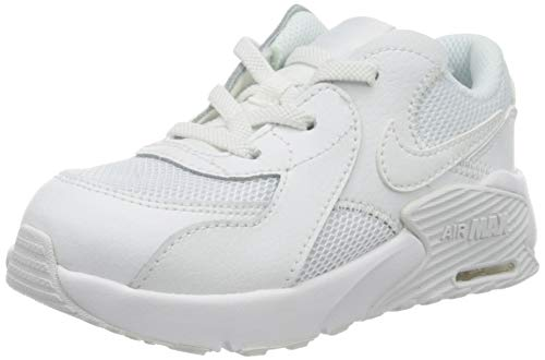 Nike Jungen Unisex Kinder Air Max Excee (TD) Sneaker, White White White, 23.5 EU